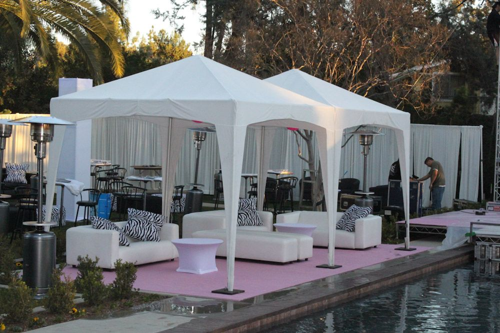 White Cabana 10 X 10 A1 Party Pool Party Decorations