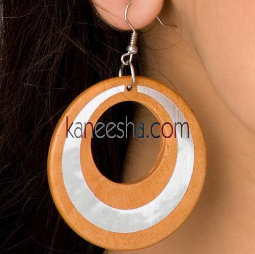 Orange/Silver Disc Earrings-60% price reduction Price: Usa Dollar $09, British UK Pound £05, Euro 7, Canada CA$10 , Indian Rs486.