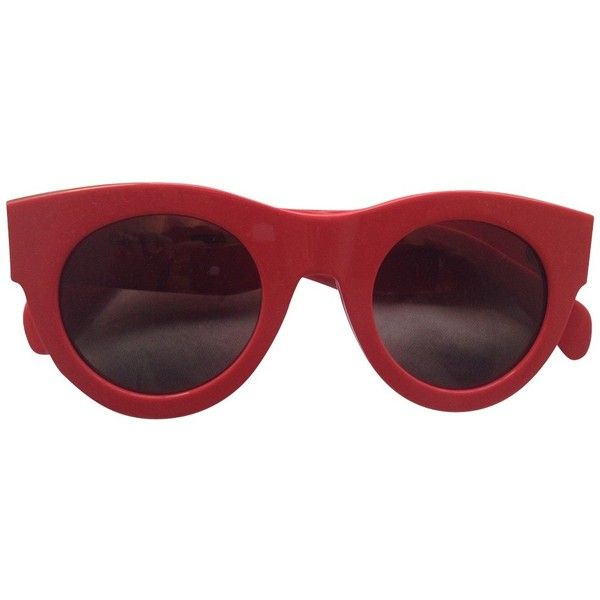 ebb3bdbf7 Pre-owned sunglasses (1.025 BRL) ❤ liked on Polyvore featuring accessories,  eyewear, sunglasses, red, celine glasses, red glasses, gold glasses, ...