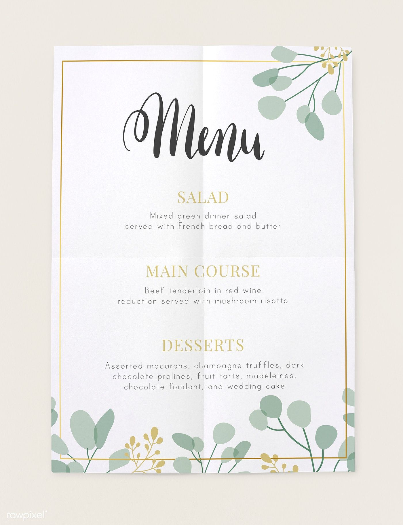 Download Premium Psd Of Restaurant Today S Menu Card Mockup 545569 Menu Card Design Menu Cards Todays Menu