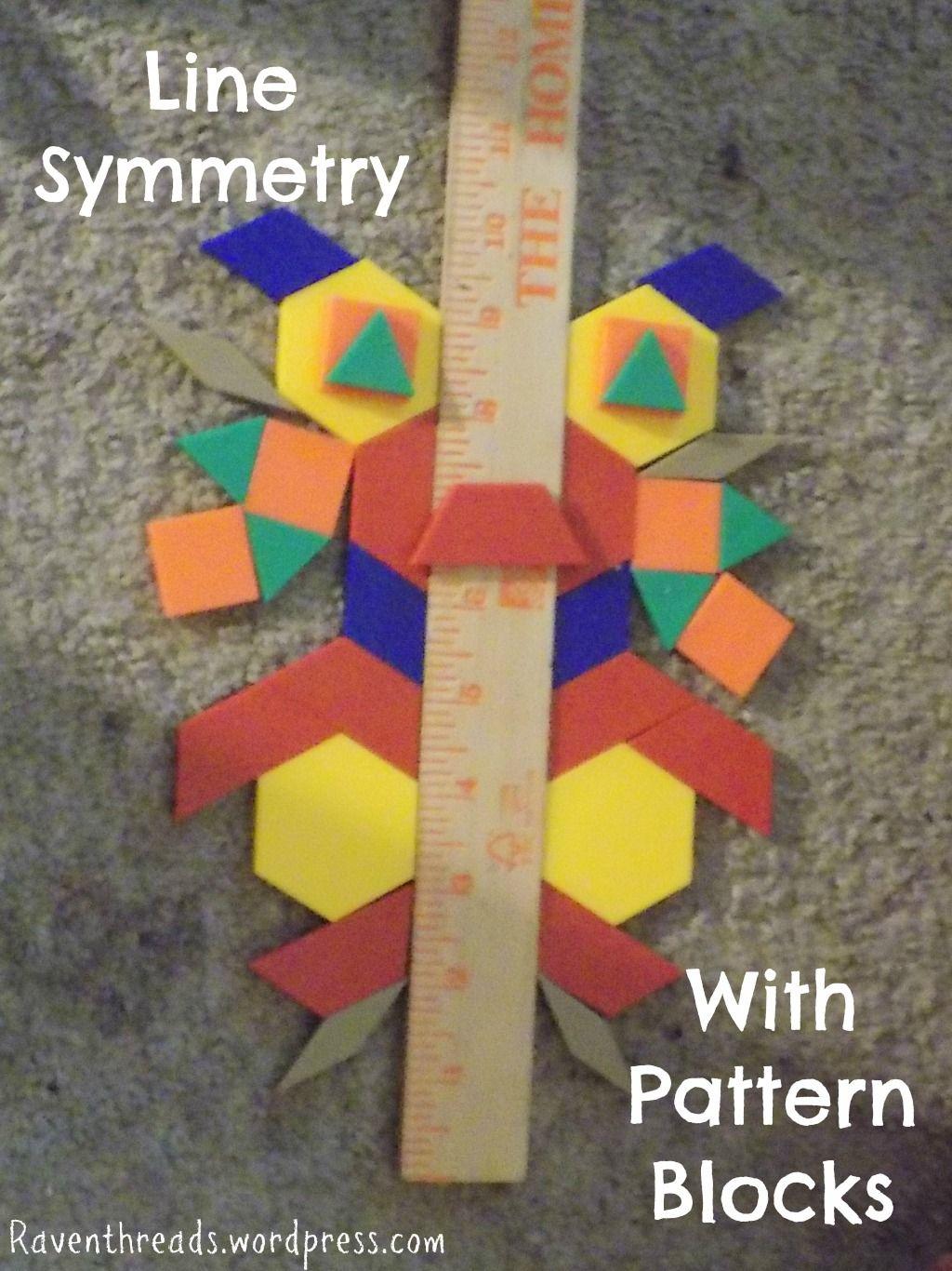 Line Symmetry With Pattern Blocks