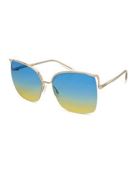43e9e1b73f Barton Perreira Satdha Semi-Rimless Square Sunglasses