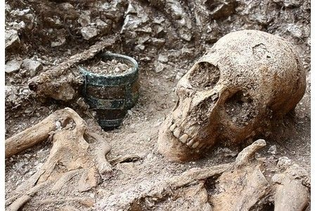 Soldiers taking part in Operation Nightingale unearthed Anglo-Saxon warriors buried with a range of personal possessions at Barrow Clump