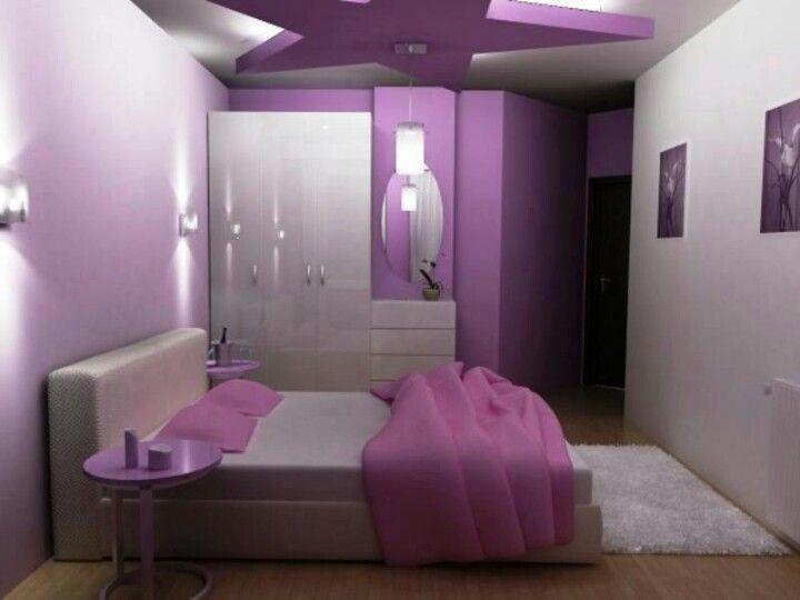 Purple Dream Buntes Schlafzimmer Schlafzimmer Streichfarben