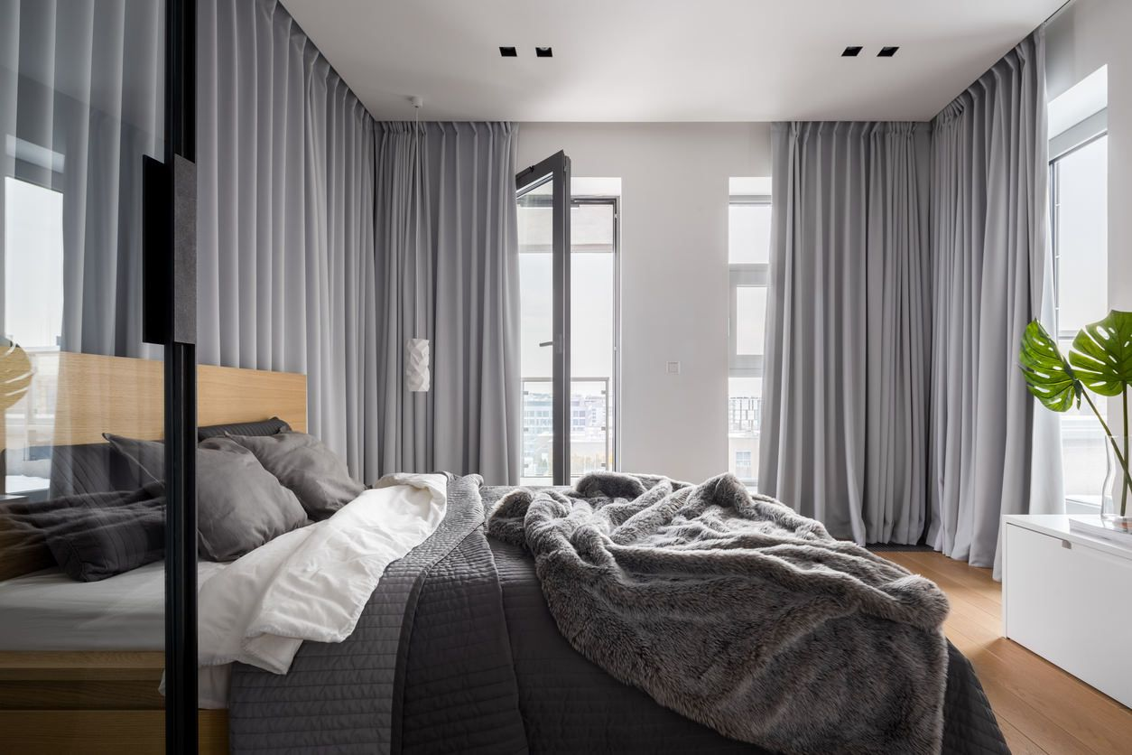 Wow 101 Sleek Modern Primary Bedroom Ideas Photos Modern Master Bedroom Master Bedroom Curtains Contemporary Bedroom