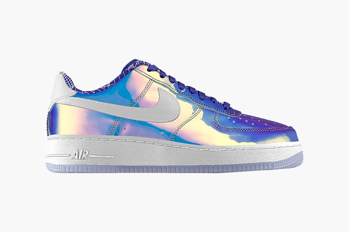 "NIKEiD Launches ""Iridescent"" Option For Nike Air Force 1"