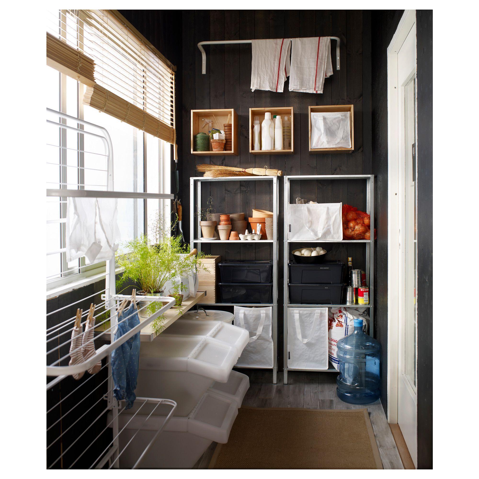 Ikea Hyllis Shelf Unit Indoor Outdoor Galvanized In 2019