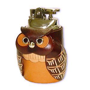 Image Detail For Accessories Desk Lighter Owl Anese Leather Table