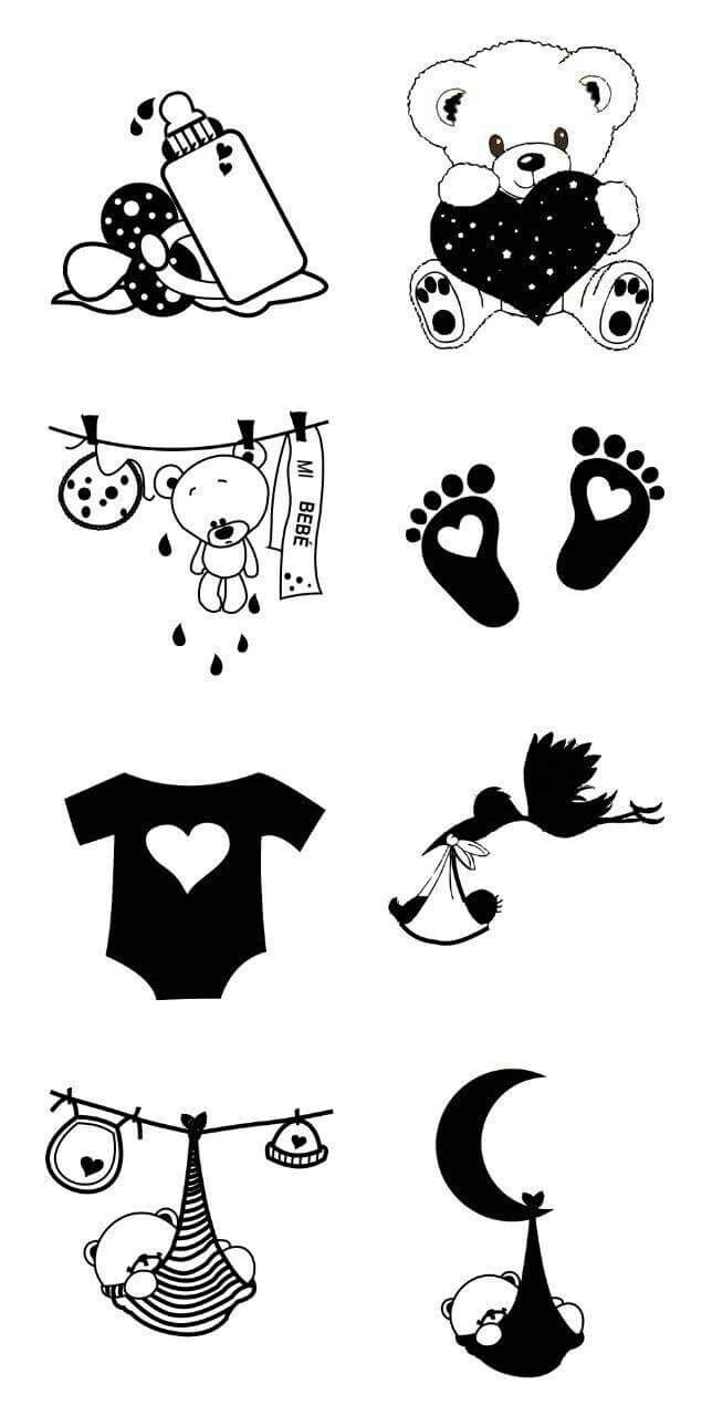 Vinilos para frascos para beb s baby shower pinterest - Posters y vinilos ...