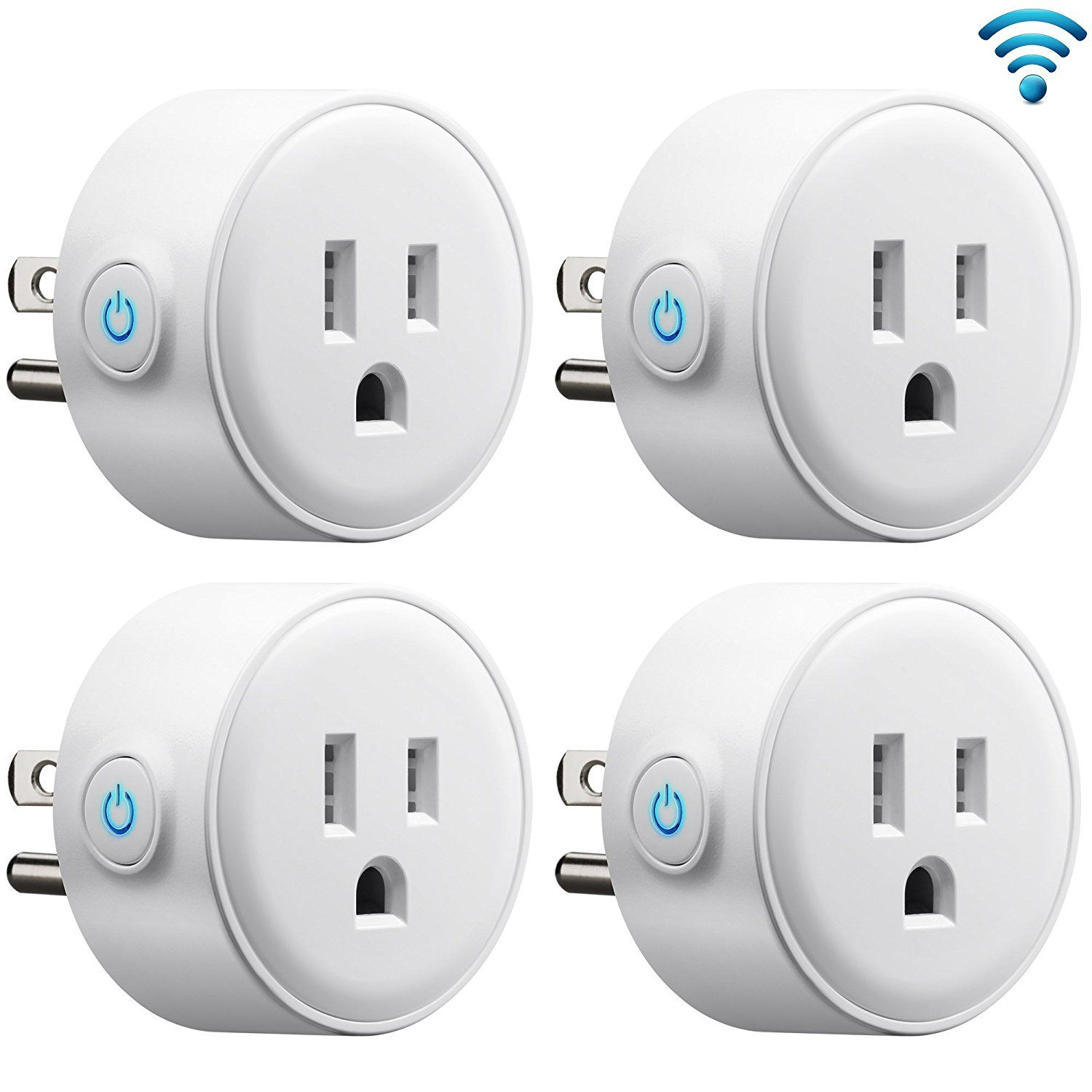 GMYLE 4 Pack Wifi Smart Plug Mini Outlet Power Control