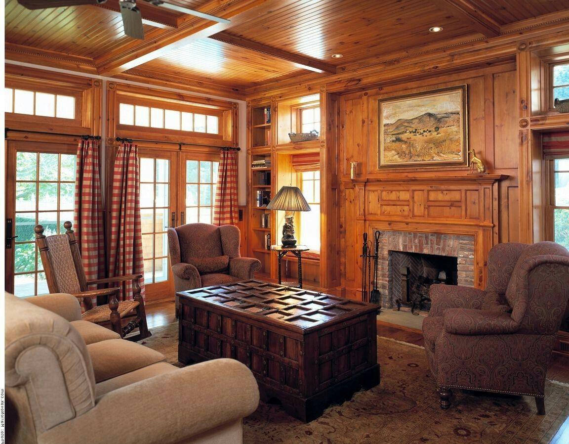 Pin by Ann Janik on Living room | Knotty pine walls, Pine ...