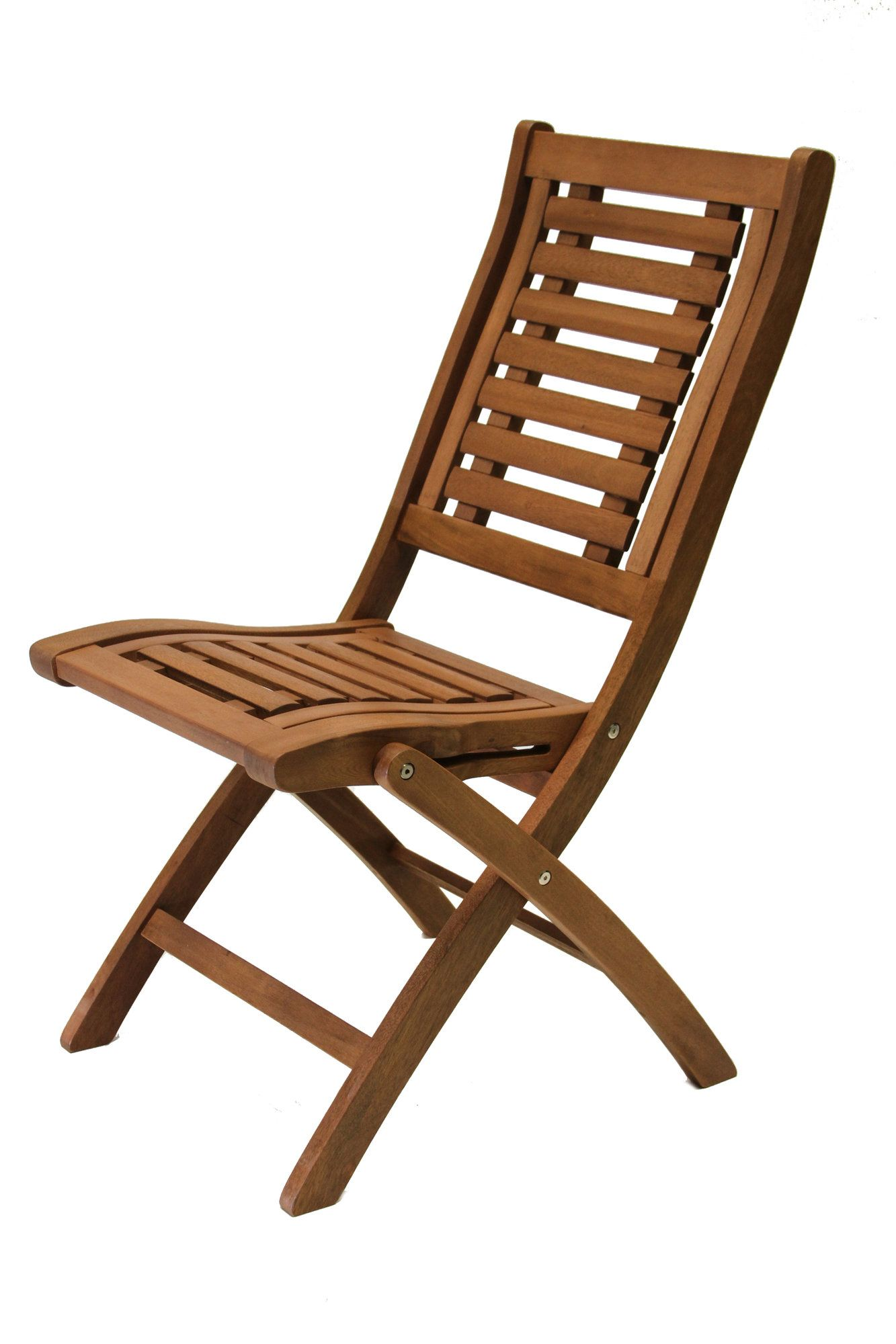 Eucalyptus Folding Side Chairs Patios traseros, Sillas