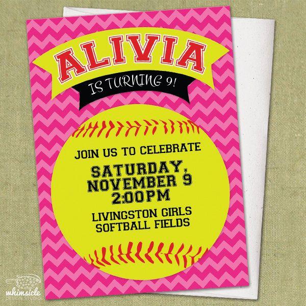 Chevron Softball Invitation  DIY Printable  by whimsicledesign, $12.00
