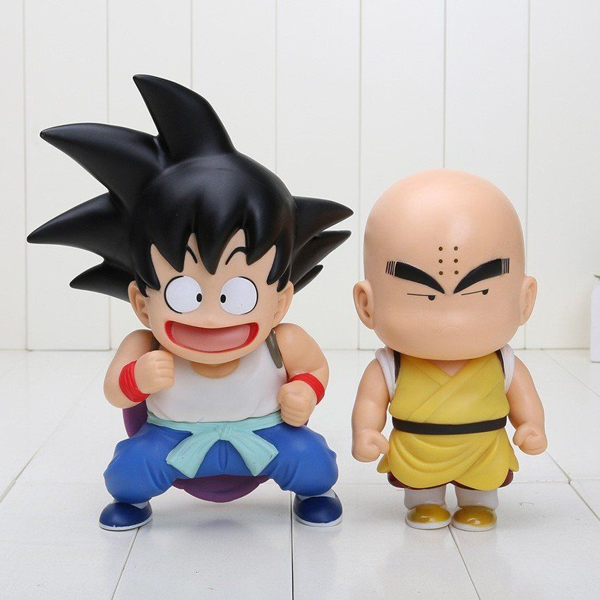 Dbz cute teen kid goku krillin collection 1 set 2 pieces anime pvc figure toys