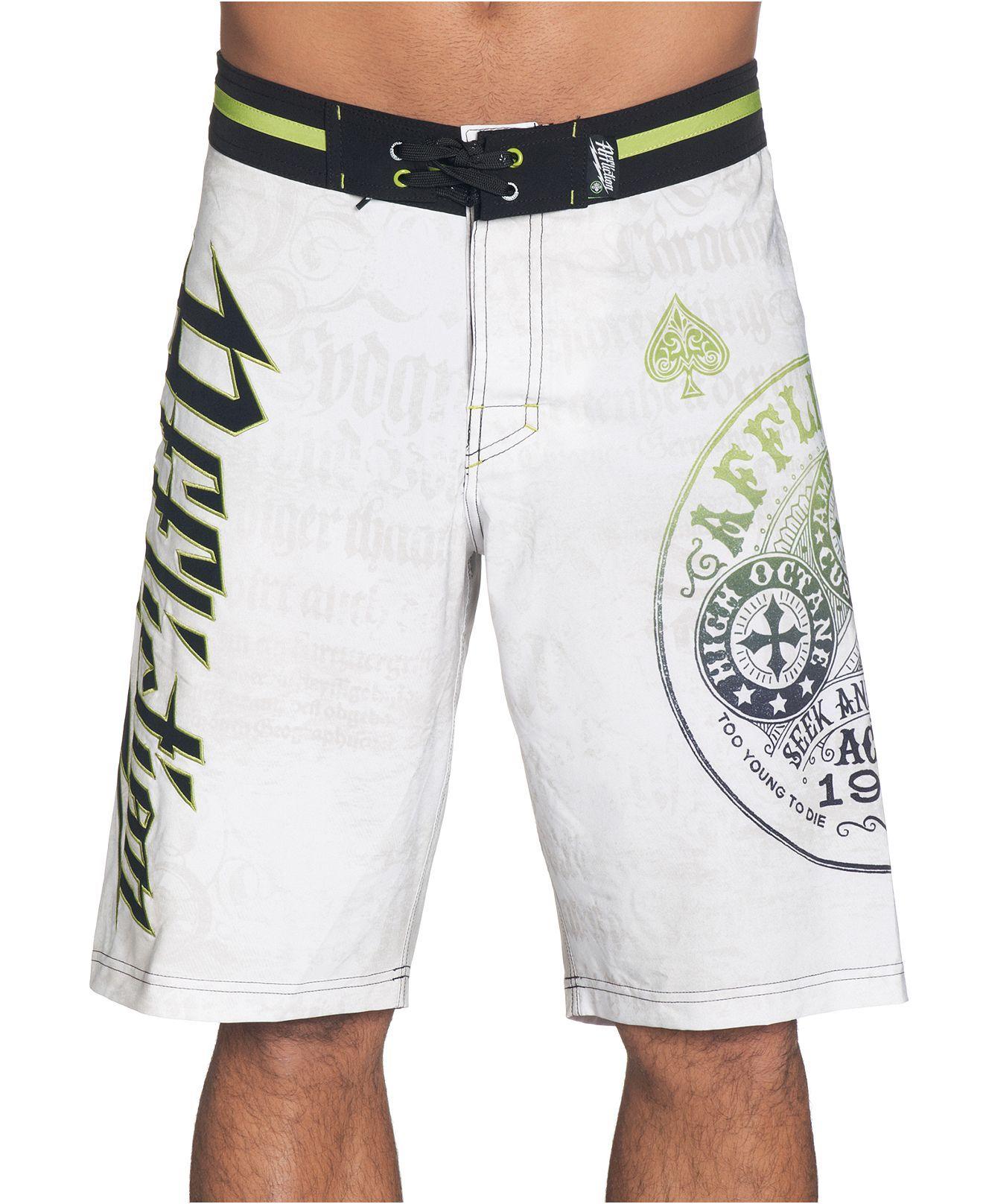 32bea606dfd75 Affliction Swimwear, Triumph Board Shorts - Swimwear - Men - Macy's ...