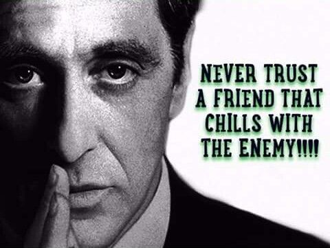 Never Trust A Friend That Chills With The Enemy Never Trust Anyone Quotes Enemies Quotes Never Trust Anyone