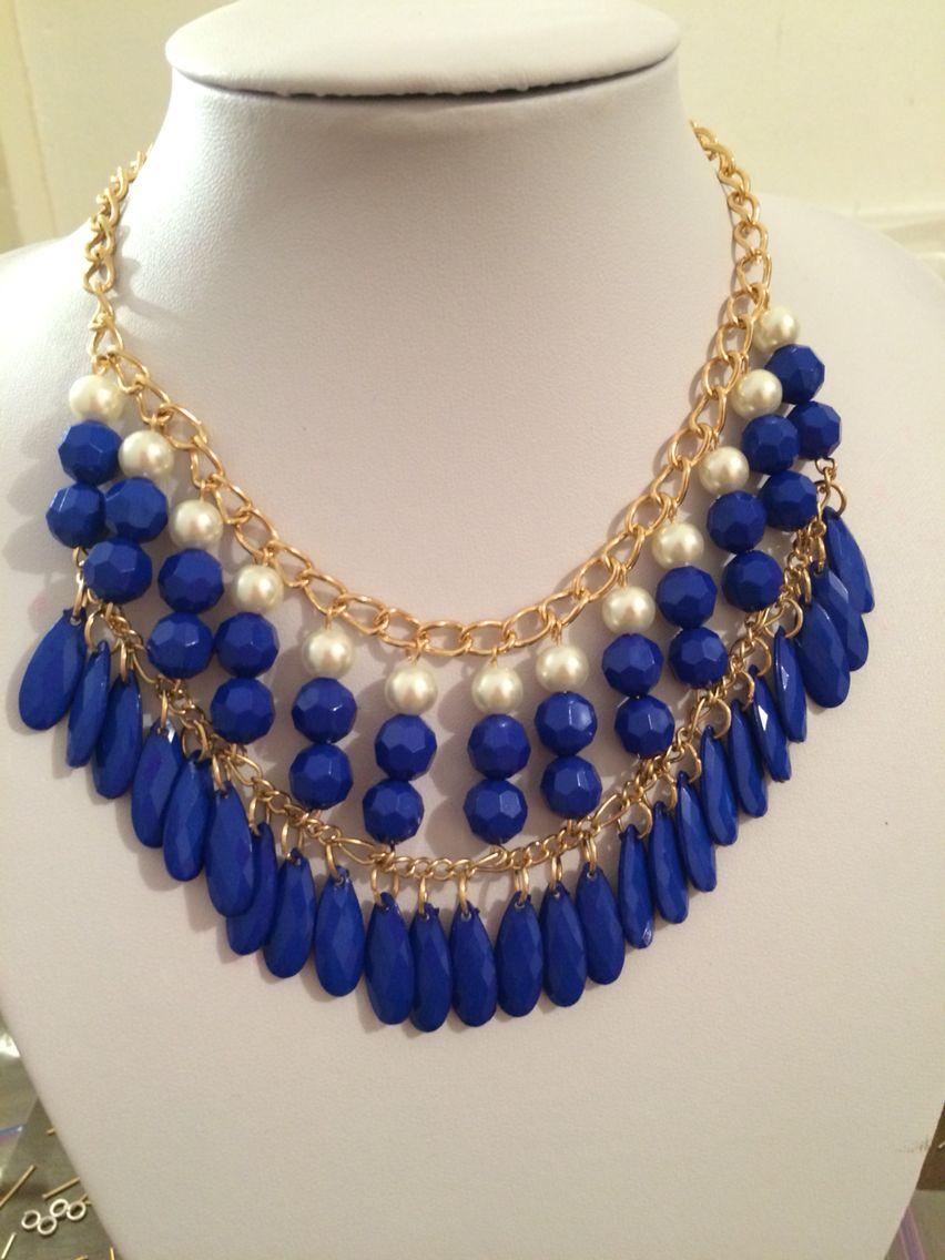 d2ea2d980 Collar Azul Electrico   Collares...Tendencias   Collares, Collares ...