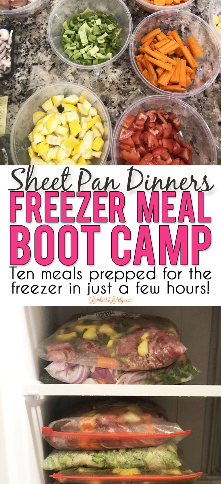 Photo of Sheet Pan Dinners Freezer Meal Boot Camp