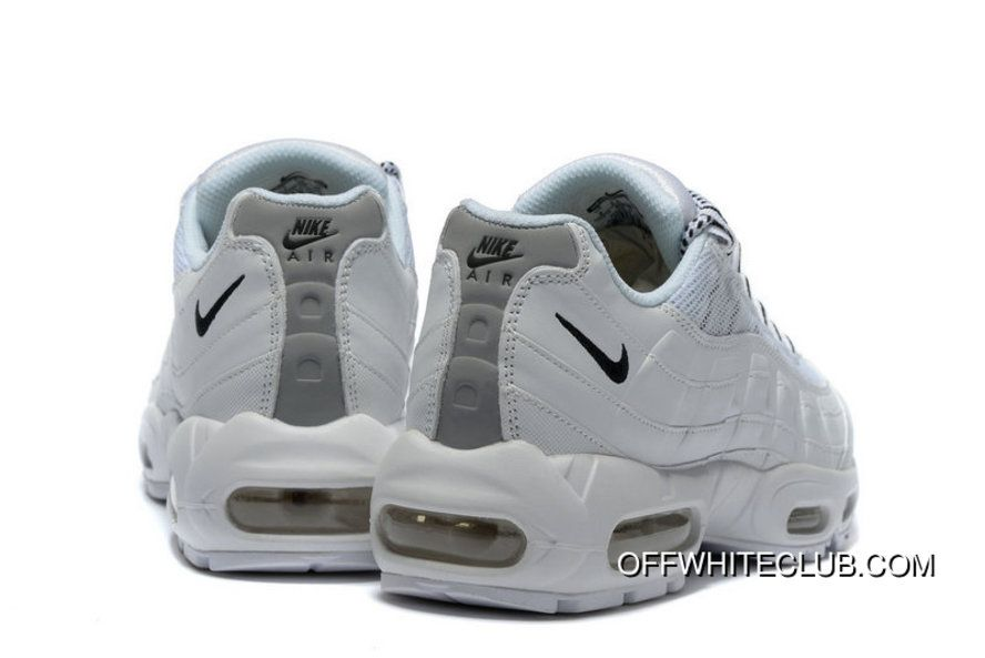 huge selection of 50a42 756ab Nike Air Max 95 Clean White Black 609048-109 Top Deals