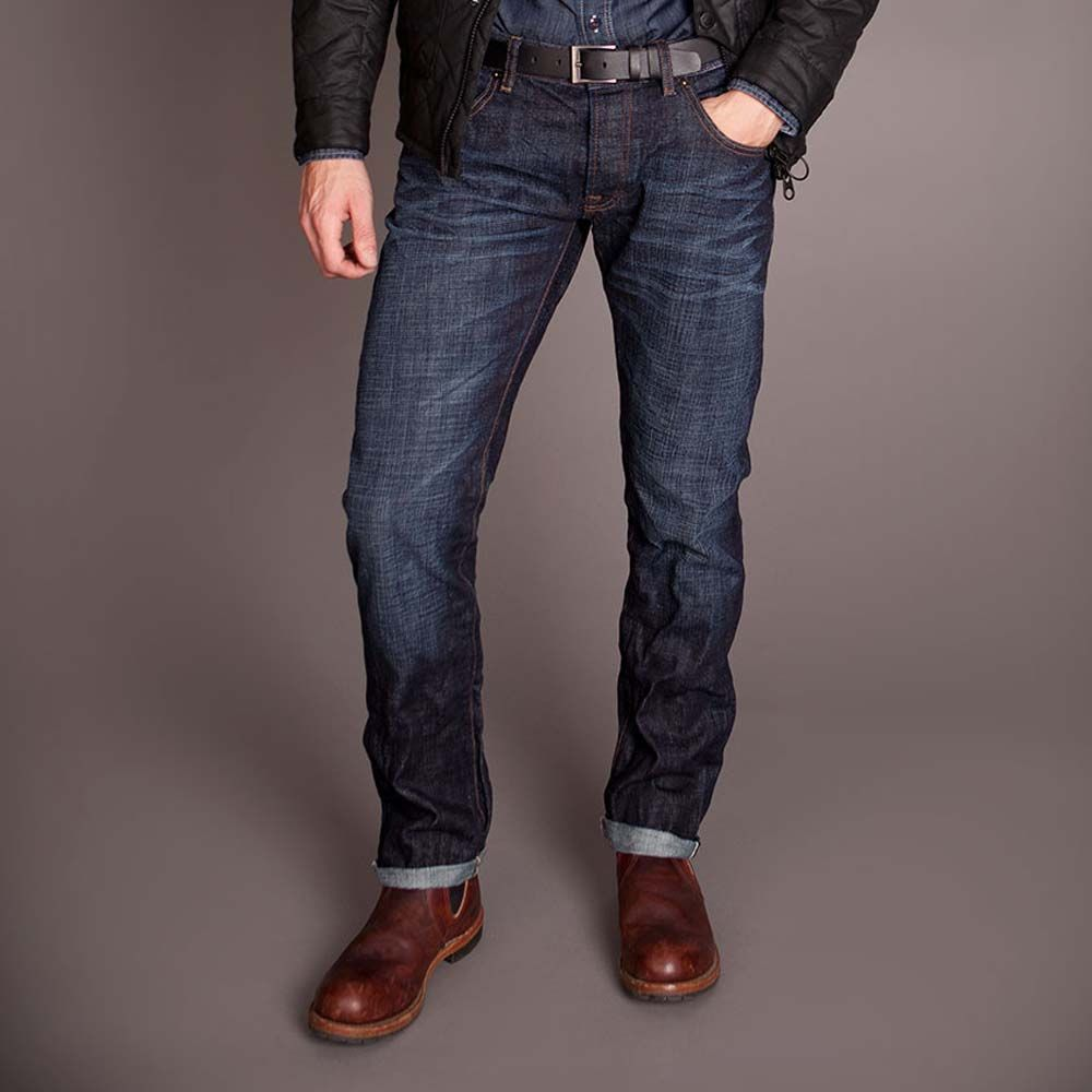 the barbour international lightning selvedge jeans are stylish
