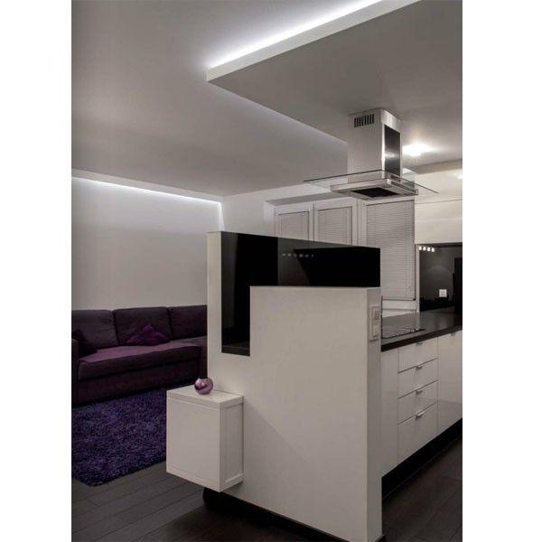 Comedor cocina de estilo moderno con un diseño en colores negros y ...
