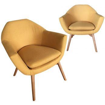 fauteuil scandinave moutarde ilona 2 lot de 2 - Fauteuil Scandinave Moutarde