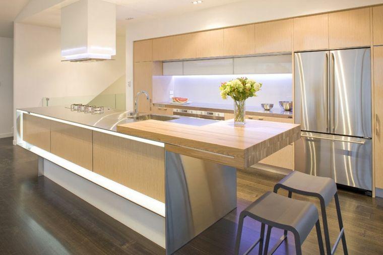 Cocinas con barra americana 35 diseños de lujo Barra americana - barras de cocina
