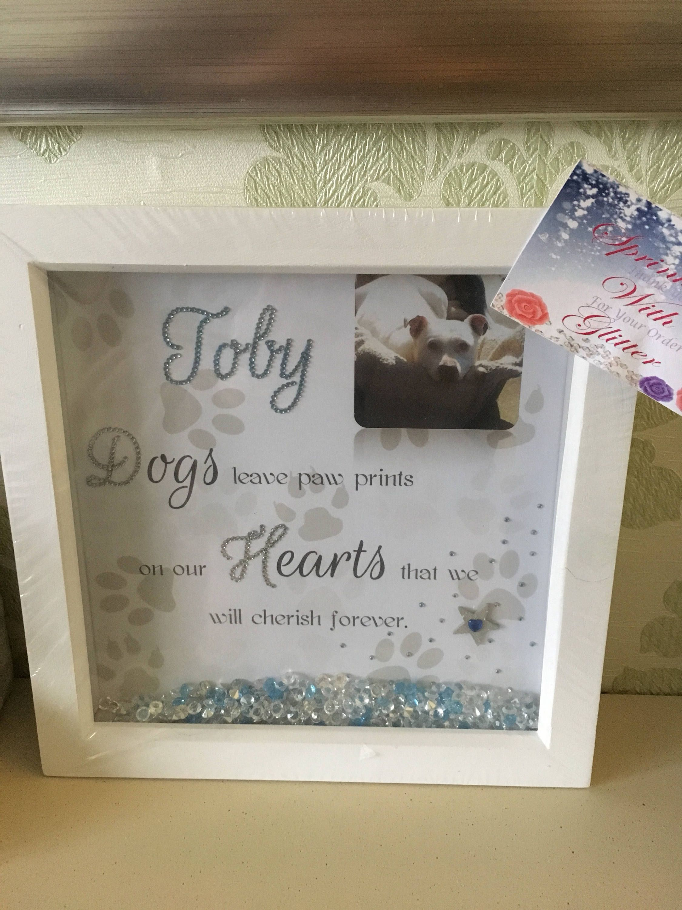 Pet memory customised box frame petlover loss of a pet by
