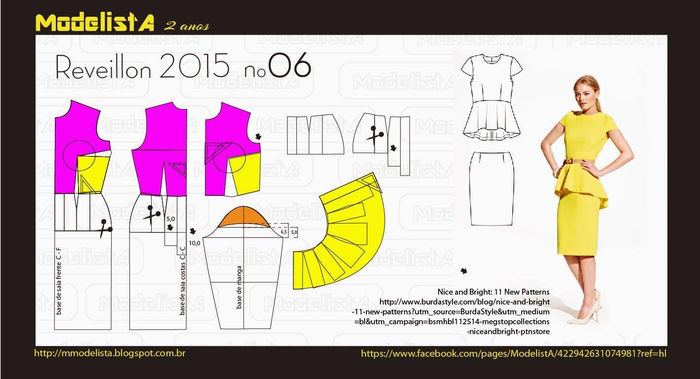 ANO NOVO - 6 | Patrones, Molde y Costura