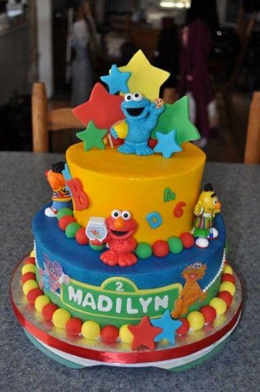 Sesame Street Birthday Cakes child cake Pinterest Sesame