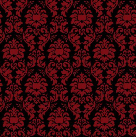 Red And Black Damask Print Wish I Could Find This Fabric