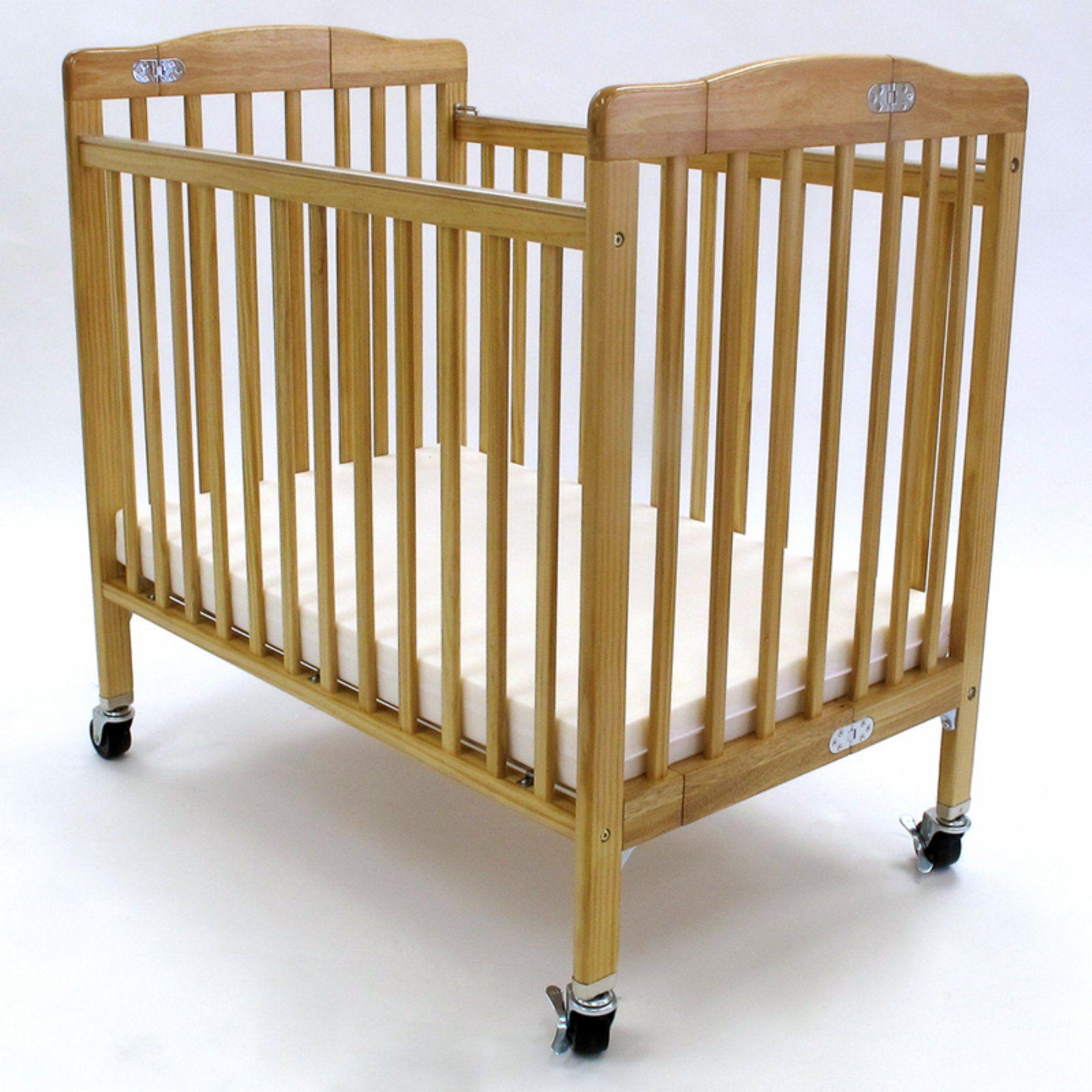 compact nursery furniture. LA Baby Pocket Compact Folding Wood Crib - Natural CW-888A-N Nursery Furniture K