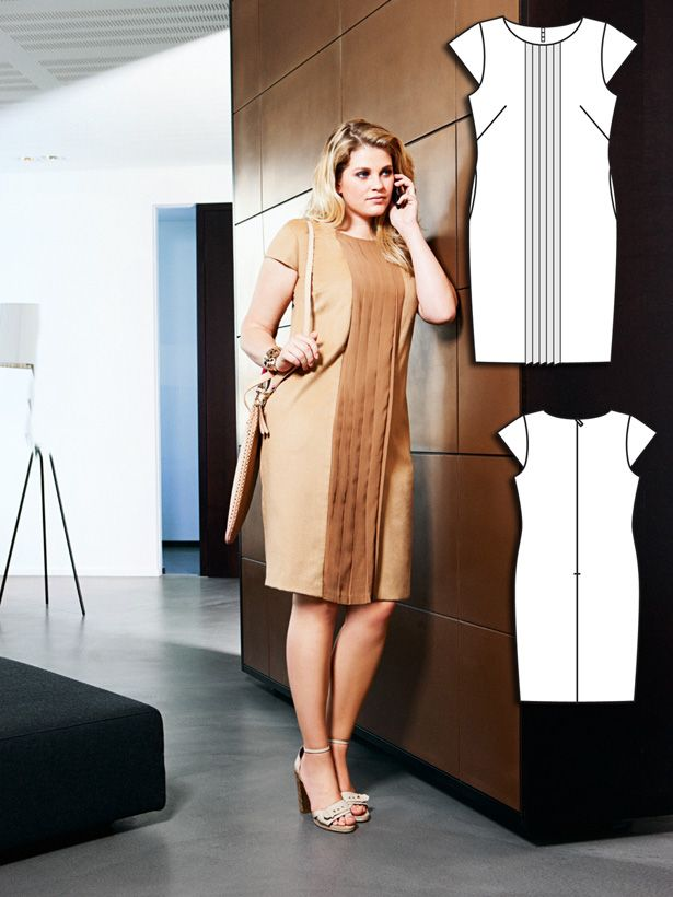 Office Party: 9 New Plus Size Sewing Patterns | Filz, Stoffe und Nähen