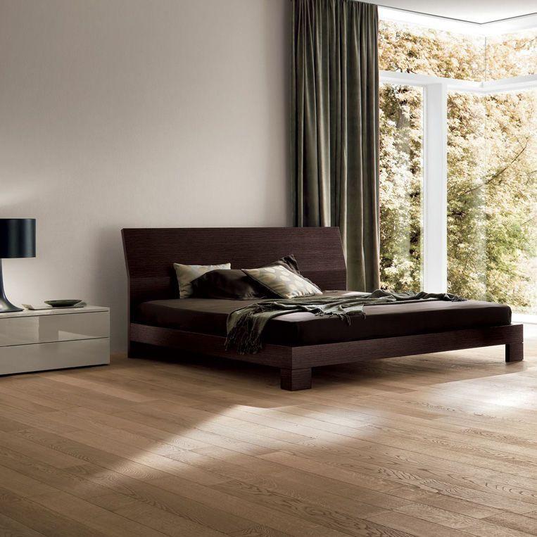Lit double / contemporain / en bois / avec tête de lit BASIC Dall ...