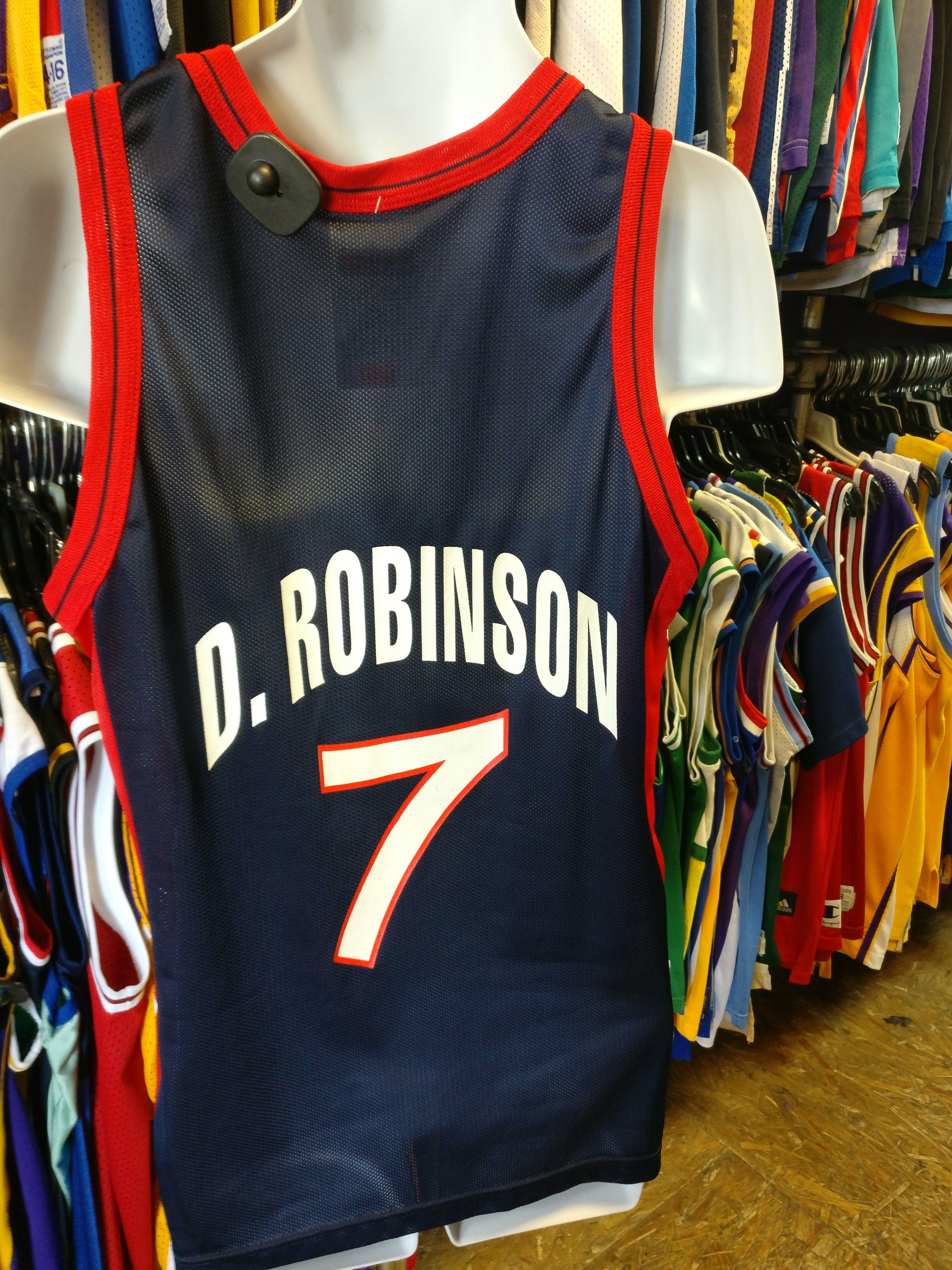 cheap for discount d3ffe c415d Vtg#7 DAVID ROBINSON USA Dream Team NBA Champion Jersey 40 ...