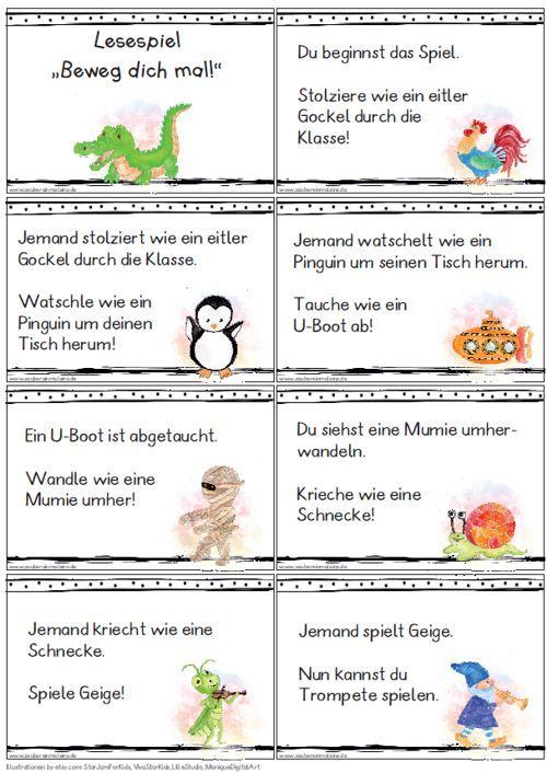 Lesespiel Beweg Dich Mal Zaubereinmaleins Designblog Lesespiele Zaubereinmaleins Spiele Grundschule