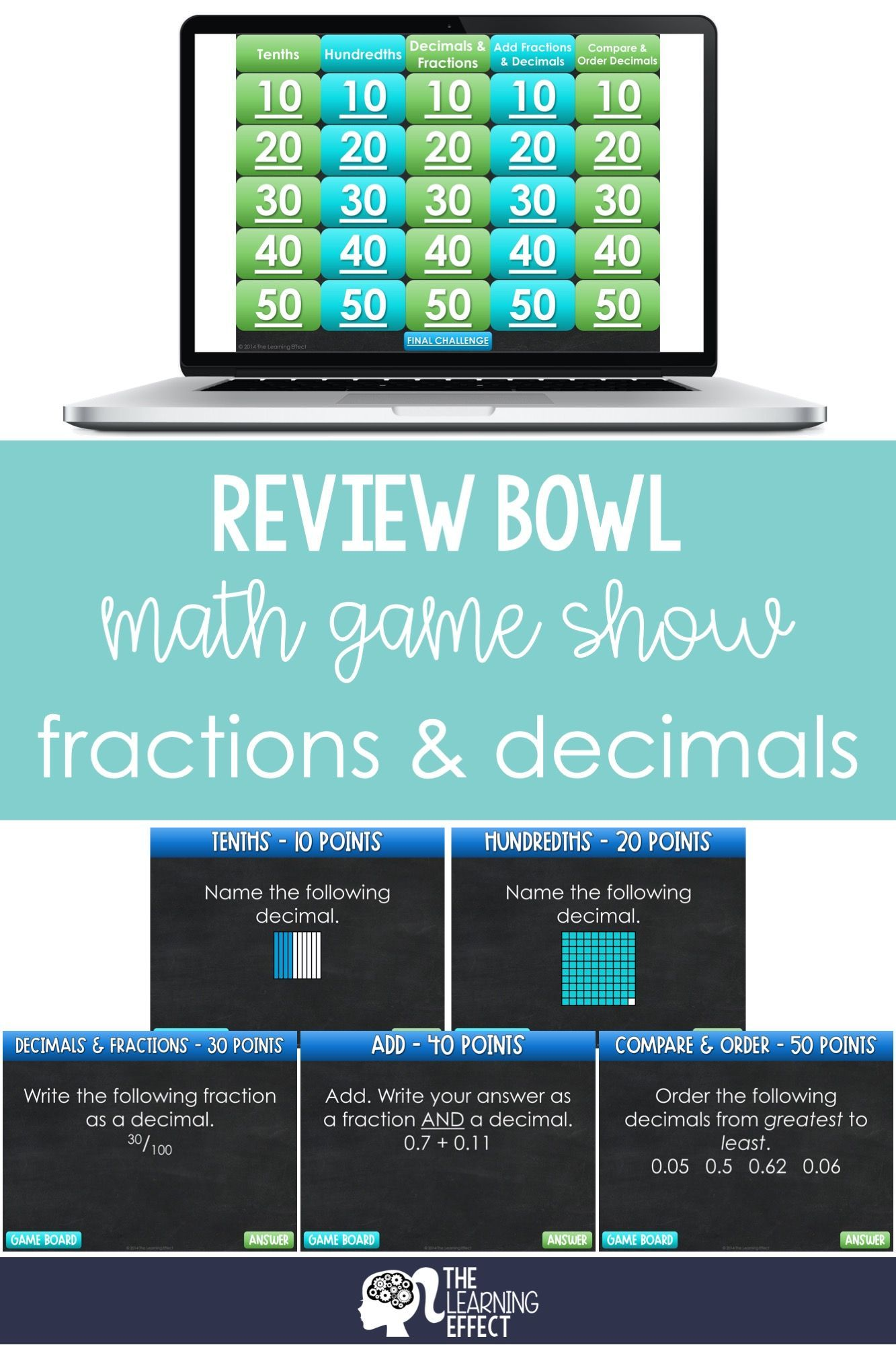 Fractions And Decimals Game Show