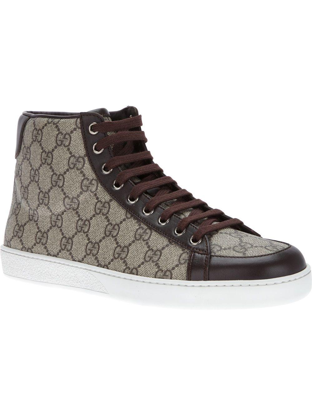 Gucci Monogram Hi-top Sneaker