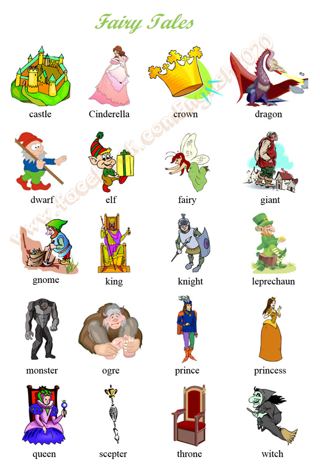 Fairy Tale Vocabulary With Visuals