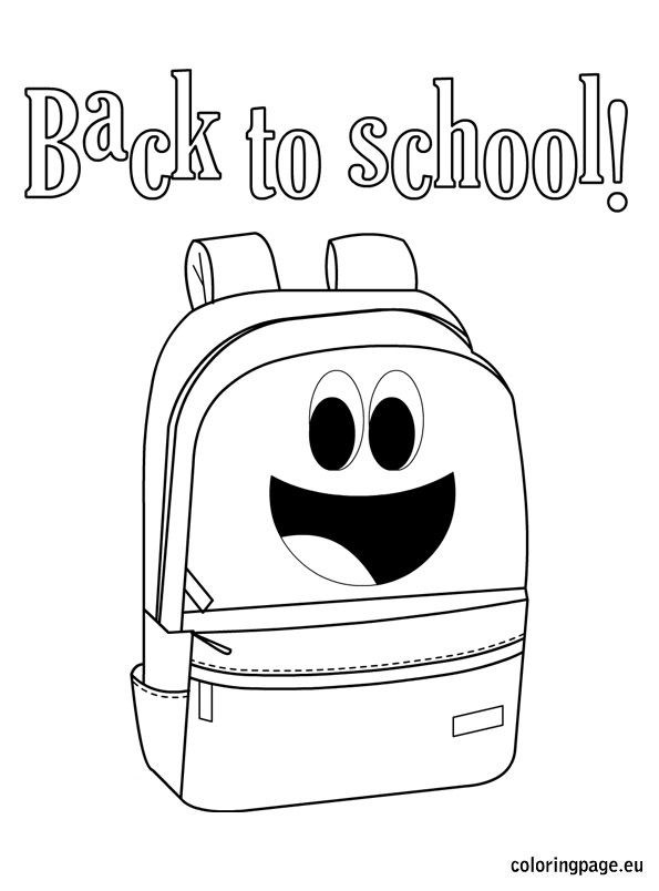 Back to school coloring sheets printable School