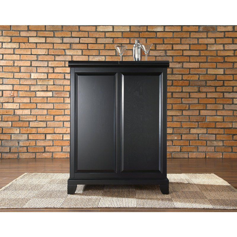 Crosley Newport Expandable Bar Cabinet In Black Finish KF40001CBK Looks  Like Arhaus Cabinet (.4