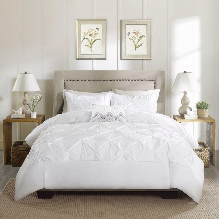 Madison Park Julia 4 Pc Cotton Percale Duvet Cover Set 139 99 Duvet Cover Sets Bedding Sets Luxury Bedding Sets