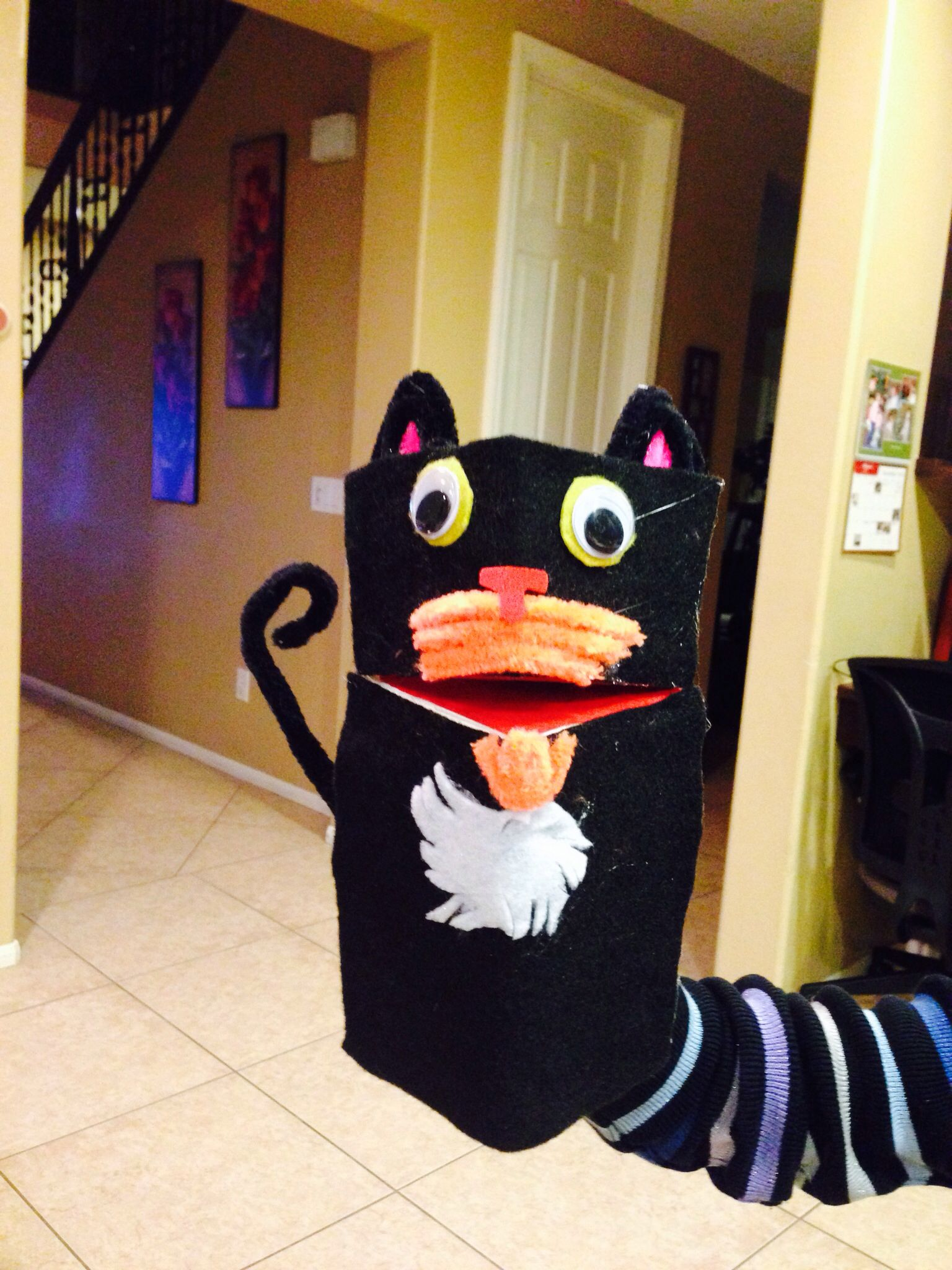 Milk Carton Puppet Bad Kitty By Nick Bruel