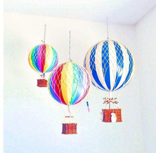 Air Ballon Made With Beach Ball Woven Basket And Netting Easy Home Decor