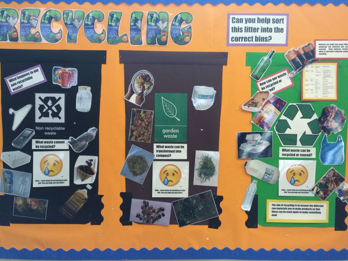 Recycling Themed Interactive Display Featured Three