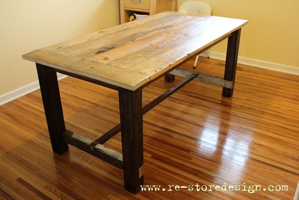 Good Reclaimed Wood Farm Table | Do It Yourself Home Projects From Ana White $60 Reclaimed  Wood