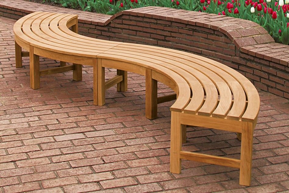 Furnitures Curved Backless Bench Contemporary Garden Furniture Design Garden Furniture Design Curved Patio Contemporary Garden Furniture