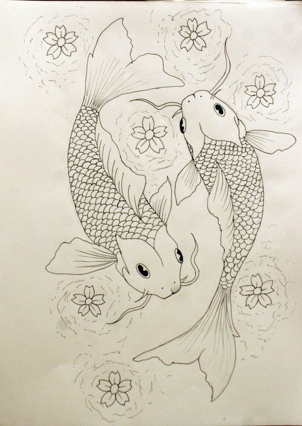 I def want Asian inspired with koi fish and lotus flowers in water