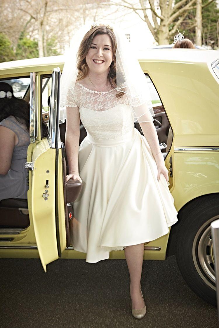 Mair by Helen Rhiannon Short Dress Gown Bride Bridal Modern Mint Gold Grey City Wedding http://www.studiocano.co.uk/