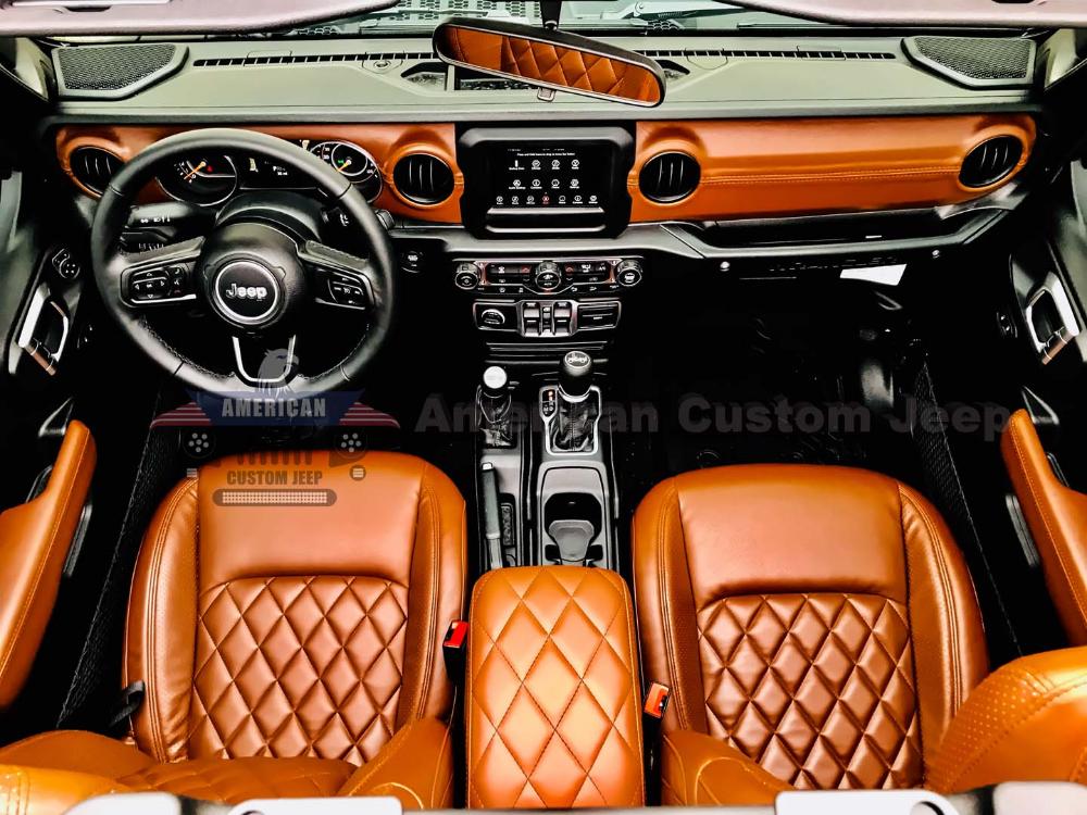 New Jl Series Saddle Brown Custom Jeep Interior Jeep Interiors Custom Jeep Jeep